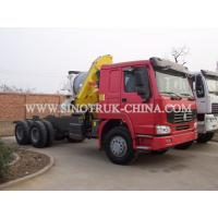Buy cheap Reliable Truck Mounted Hoist / LHD 336HP Lorry Mounted Crane For Goods Lift from wholesalers
