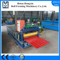 Buy cheap Galvanized Sheet Metal Roller Machine , 910mm Cover Width Metal Roof Panel Machine from wholesalers