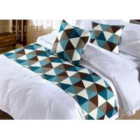 Buy cheap Silk Blended Jacquard Luxury Bed Runners Wide Size Vivid Color from wholesalers