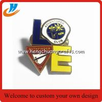 Buy cheap Resin coating soft enamel custom lapel pin no minimum lapel pin with logo butterfly clutch lapel pin from wholesalers