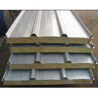 Buy cheap Rockwool Insulated Sandwich Panel Roofing Fire Resistant For Prefab Houses from wholesalers
