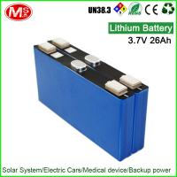 China 3.7V lithium ion battery rechargeable with long cycle life for solar power street light on sale