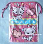 Buy cheap Waterproof Plastic Drawstring Bag , Drawstring Plastic Bag For Wet Towel / Sanitary Towel from wholesalers