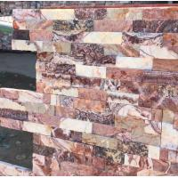 Buy cheap Glory Purple Marble Culture Stone,Purple Cream Marble Ledgestone,Red Jade Marble Stacked Stone,Stone Veneer from wholesalers