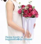 Buy cheap Free Design!! Free Sample!!! flower carrier bag cheap brown paper flower bag handle bag,paper carrier flower packaging b from wholesalers