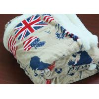Buy cheap UK Flag Pattern Personalised Adult Blanket For Winter 480gsm from wholesalers