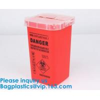 Buy cheap Biohazard Plastic Sharps Container,Hospital Biohazard Medical Needle Disposable Plastic Safety Sharps Container from wholesalers