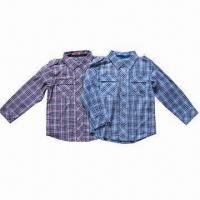 Buy cheap Boys'/Children' Shirts/Track Tops, Made of Y/D Woven Checked, Measuring 1 to 4 Years from wholesalers