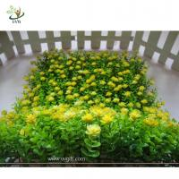 Buy cheap UVG HGR02 new style artificial boxwood panel with plastic flowers for interior decoration from wholesalers
