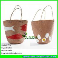 Buy cheap LDSC-089 fish printed seagrass straw shopping bags from wholesalers