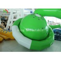 Buy cheap Green / White UFO Shape PVC Tarpaulin Inflatable Floating Saturn Water Toy For from wholesalers