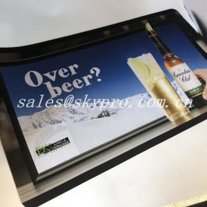 Buy cheap Hot selling nitrile fabric bar mat neoprene bar mats 3D OEM logo custom printing mat product