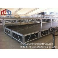 Buy cheap Lightweight Aluminum Scaffold Stage Solid Structure Customized Size Easy Installation from wholesalers
