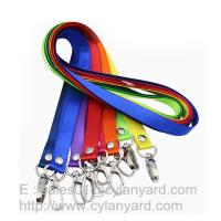 Buy cheap Personalized nylon lanyard with your logo print, small wholesale lot nylon neck straps from wholesalers