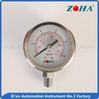 Buy cheap Low Pressure Glycerin Pressure Gauge / Stainless Silicone Filled Pressure Gauge from wholesalers