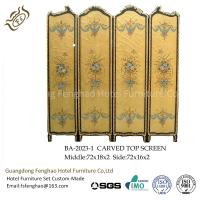 Buy cheap Modern Foldable Screen Divider Pine Air Brush Plywood With Gold Foil Foldable Room Partitions from wholesalers