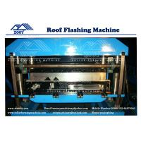 Buy cheap 0.3mm - 0.8mm Thickness Roof Flashing Panel Roll Forming Machine from wholesalers