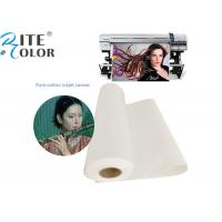 Buy cheap Waterproof 100% Pure Cotton Art Canvas Inkjet Paper For Printing Media from wholesalers