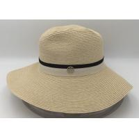 Buy cheap Womens Sun Visor Wide Brim Roll up Foldable Straw Beach Hat from wholesalers