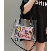 Buy cheap Customized Clear Waterproof Toiletry Bag ,ShinningPVC Transparent Bag, Long Hand ladies bag from wholesalers