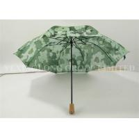 Buy cheap Ladies Automatic Folding Umbrellas , Wooden Handle Umbrella Nature Green Painted product