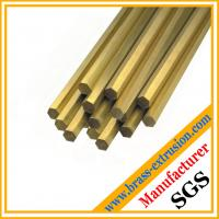 China solid hexagon brass bars and brass rods on sale