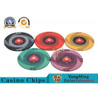Buy cheap Custom 10g 14g Ceramic Poker Chips 3.3mm Thickness Environmentally Friendly product