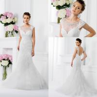 Buy cheap Tulle Mermaid Vintage Inspired Wedding Dresses Lace Crystal Applique from wholesalers