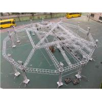 Portable Adjustable Aluminum Box Truss Mobile Stage For Exhibition Easy Installation