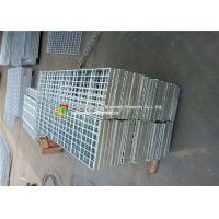 Buy cheap Stair Tread Serrated Steel Grating Custom Width HDG Surface Treatment product