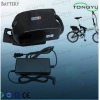 Buy cheap High Performance Electric Bike Lithium Ion Battery Pack 36V 10Ah With Frog Plastic Case from wholesalers