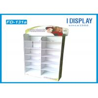 White Gloss POP Cardboard Floor Displays 12 Cell For Selling Clock