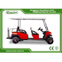 Buy cheap Fuel Type Electric Golf Carts Red 6 Seater Golf Cart With Graziano Axle from wholesalers