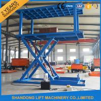 Buy cheap Portable Scissor Lift Car Hoist Double Deck Car Parking System with Overload Protection from wholesalers