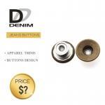 Buy cheap Classic Brass Denim Metal Buttons , Denim Jeans Button Waistcoat Studs from wholesalers