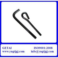 Buy cheap Galvanized A36 L/J Hook Bolts M6 Grade 4.8 from wholesalers