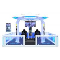 Buy cheap Popular 9D Virtual Reality Theme Park White / Blue Color For 5 Person Player product