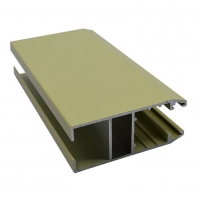 Buy cheap Beige Powder Coating T8 Aluminum Sliding Section from wholesalers