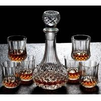 Buy cheap Diamond Design Whiskey Glass Bottle With Cups For Night Bar Offer Whiskey from wholesalers