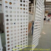 Buy cheap aluminum powder coating white perforated metal sheet panels for walls from wholesalers