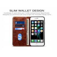 Buy cheap Card Slots Leather Flip Phone Cover For iPhone 8 , Leather Flip Phone Case from wholesalers