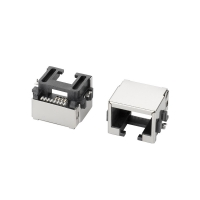 Buy cheap Magnetic Female RJ45 Modular Connector With Phosphor Bronze Terminal product