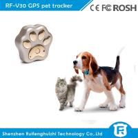 Buy cheap RF-V30 smart mini waterproof cow dog cat gps tracker pet with wifi location from wholesalers