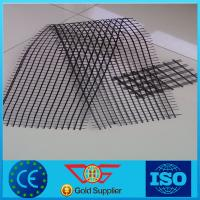 Buy cheap Bitumen Coated Biaxial Fiberglass Geogrid Prices 25KN*25KN~100KN*100KN with CE Certification product