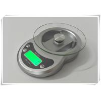 Buy cheap Timer Function Kitchen Weight Scale , Tempered Glass Platform Portable Food Scale from wholesalers