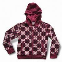 Buy cheap Girl's Hooded Jacket with 95% Cotton 5% Spandex Fabric from wholesalers