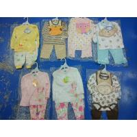 Buy cheap hot sale good quality cotton baby clothes stock  discount  3 piece sets spring 12M 24M kawaii  infant outfits on sale from wholesalers