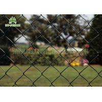 Buy cheap Diamond Hole Steel Chain Link Fence 50 × 50mm Heat Resistance For Railway Station product
