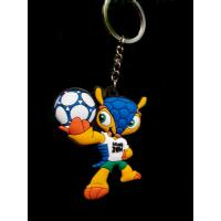 Buy cheap 2014 Brazil the world cup emblem mascot souvenir emblem ornament armadillo plastic key chain from wholesalers