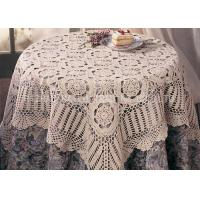 Buy cheap 100% Cotton Soft Knitted Table Mats Lightweight Hollow Out 100cm x 100cm from wholesalers